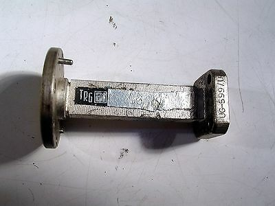 TRG Waveguide ADAPTOR SECTION WR28 RD TO  SQ FLANGE USED