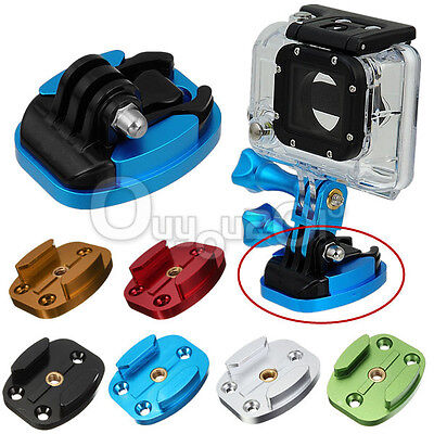 CNC Aluminum Flat Quick Release Buckle Mount Base 4 holes for GoPro Hero 2 3 3+