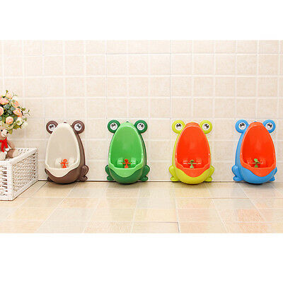 Frog Plastic Baby Children Boys Pee Potty Toilet Training Kids Urinal Bathroom