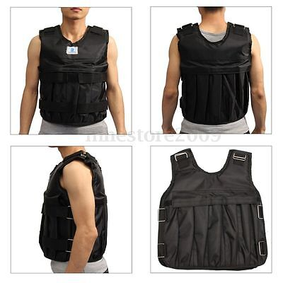 Zooboo 44LBS/20KG Adjustable Weight Vest Black Gym Exercise Fitness Training