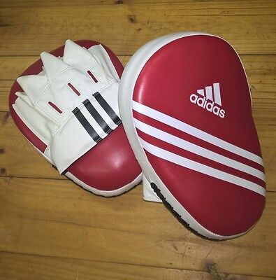 ADIDAS Elite Curved Focus Mitts FROM AUS Practice Boxing MMA Pads Red Pair