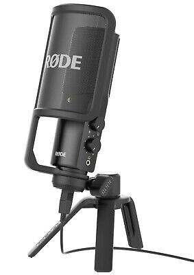 RODE NT-USB Condenser Studio Microphone for USB Vocal Cardioid Podcast Recording