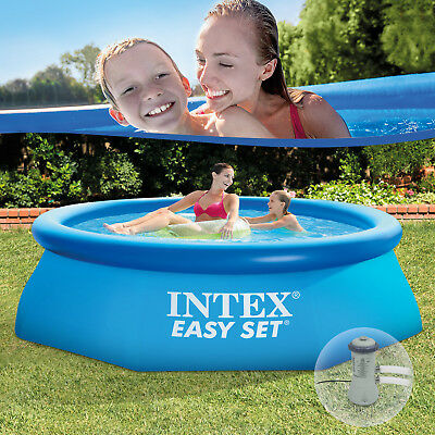 intex easy set swimming pool 244x76 cm schwimmbecken quick up schwimmbad pumpe eur 56 88. Black Bedroom Furniture Sets. Home Design Ideas