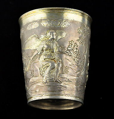 18th century antique Imperial Russian silver cup, 186g ,