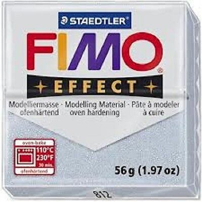 Fimo Effect Polymer Clay  - Glitter Silver No 812
