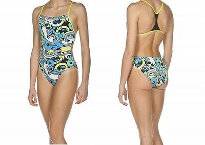 Woman Swimsuit Costume Donna Nuoto Piscina Arena Cores Boosterback 2A041 56Green