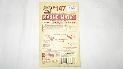 Kadee #147 HO Scale Magne-Matic Whisker Couplers 2-pair W/Draftgear  Boxes  New