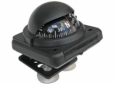 MARINE BLACK ATV 4x4 TRUCK BOAT CAR COMPASS BRACKET & SUCTION CUP – FIVE OCEANS
