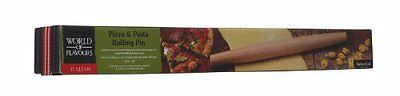 NEW Kitchen Craft World of Flavours Italian Wooden Rolling Pin