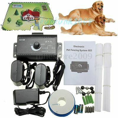 New 2 Dogs Waterproof In-Ground Electronic  Pet Fence Containment System