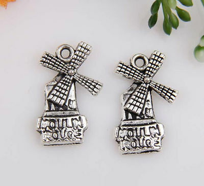 150pcs Zinc alloy windmill charms 20mm 1A591