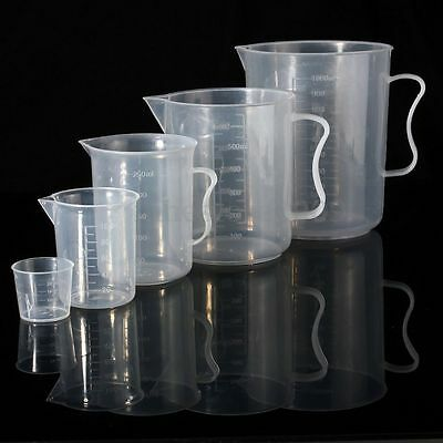 20/100/250/500/1000ML Plastic Measuring Cup Jug Pour Spout Surface Cook Kitchen