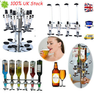 Wall Mounted / Stand Drinks Bottle Spirits Rotary Wine Bar Butler Dispenser Rack