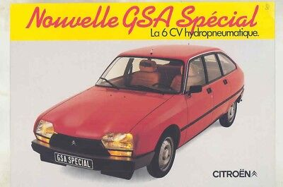 1981 Citroen GSA Special Brochure French my5562