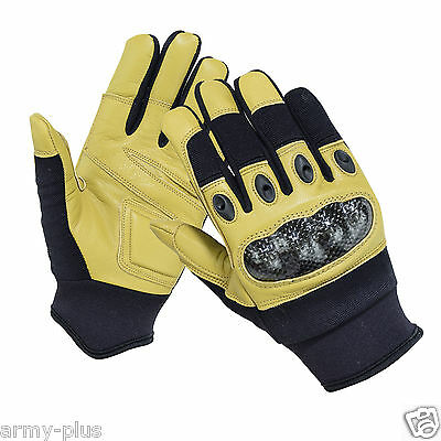 Tactical Carbon Fiber Hard Knuckle Driving Airsoft Shooting Combat Duty Gloves