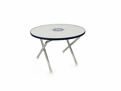Marine Round Folding Deck Table For Boat- Anodized Aluminum- Five Oceans