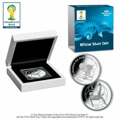 Brazil Soccer 5 Reais FIFA World Cup 2014  Mascot Silver Proof Coin Limited Ed