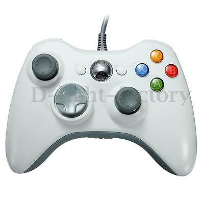 White USB Wired Controller Gamepad For Microsoft Official Xbox 360 PC Windows