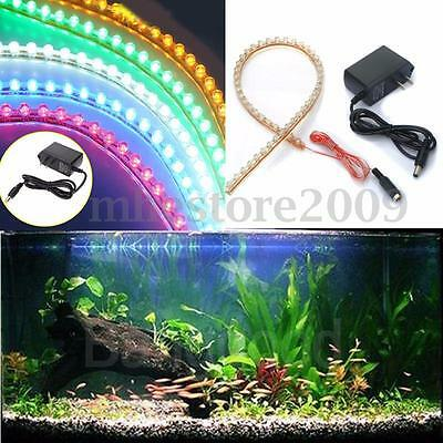 48 LED 48cm Bande Strip LED Souple Feux Flexible Lampe BLANC AQUARIUM String 12V