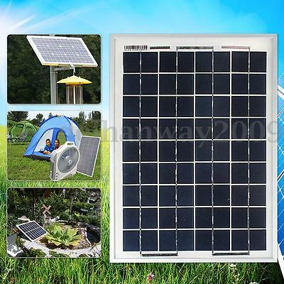 10W 12V PolyCrystalline Solar Panel Kit Module Battery Charger -3m Cable Lead