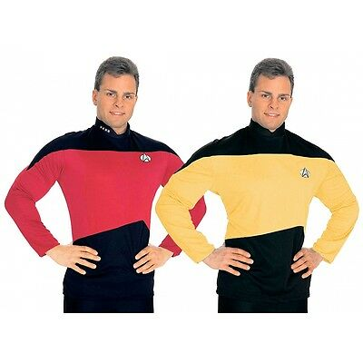Star Trek The Next Generation Shirt Gold Costume Adult Halloween Fancy Dress