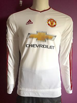 finest selection 169f0 923c9 MANCHESTER UNITED FC 2015/2016 Away Jerseys Long Sleeves/Size Mens S M/  AI6359