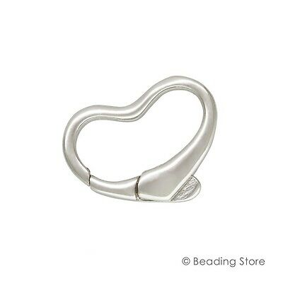 1 or 10 925 Sterling Silver 15mm Heart Fancy Floating Bolt Trigger Parrot Clasps
