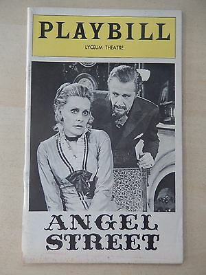 January 1976 - Lyceum Theatre Playbill - Angel Street - Dina Merrill