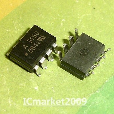 5 PCS HCPL-3150 SMD-8 HCPL3150 A3150 0.5 Amp Output IGBT Gate Drive Optocoupler