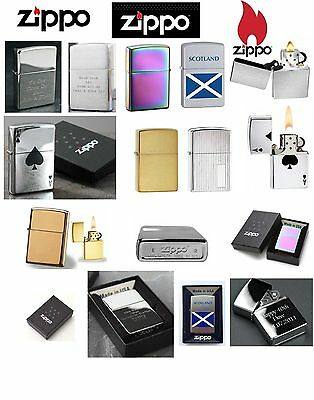 Genuine Zippo Personalised Engraved Lighter Gift Contrasting Engraving Boxed New