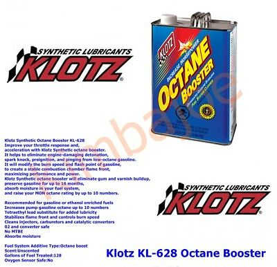 ONE (1) GALLON Klotz KL 628 Octane Booster Ships from Maine or Indiana