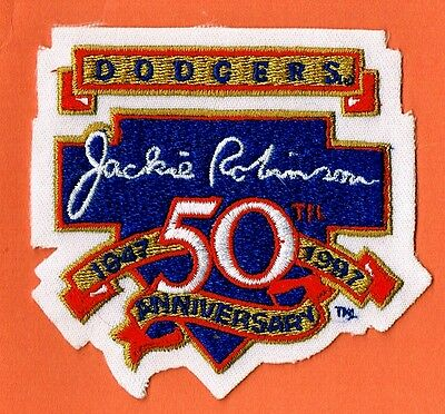 1997 Jackie Robinson Dodgers Breaking Barriers MLB Baseball Patch