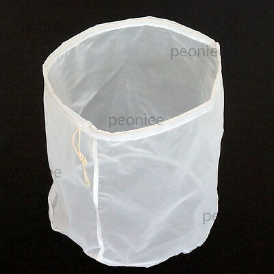 cylinder reusable nut milk tea juice wine fine NYLON mesh strain filter bag w