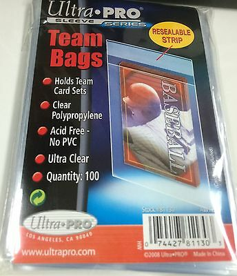 Ultra Pro Premium Resealable Team Bags pack (100)-Best for NRL Card Team Sets