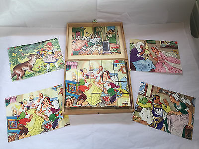 EICHHORN: WOODEN PICTURE CUBES: FAIRY TALES: #3390: - missing 1 patterns -