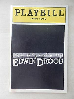 July 1986 - Imperial Theatre Playbill - The Mystery Of Edwin Drood - George Rose