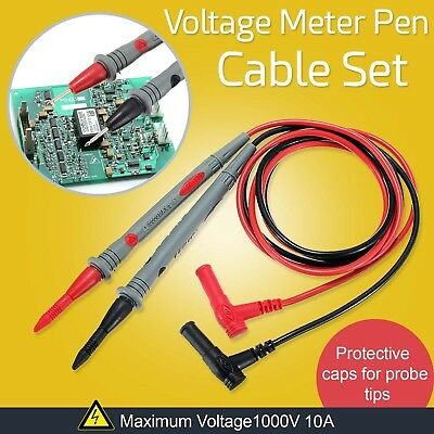 Universal 10A Multimeter Test Leads Probes Wire Volt Meter Cable UK