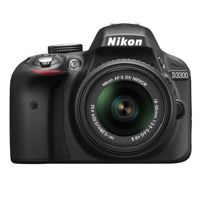Nikon D3300 DX-format 24.2 MP Digital SLR Kit w/ 18-55mm DX VR II Zoom Lens