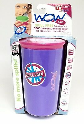 As Seen on TV Wow Cup, Spill-Proof Cup - Purple