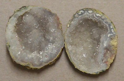 Tabasco Geode 1 Pair Cut and Polished Great for Jewelry 21769