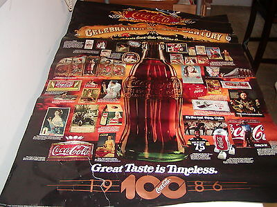 Coco-Cola Vintage Poster 1986 100 years MINT