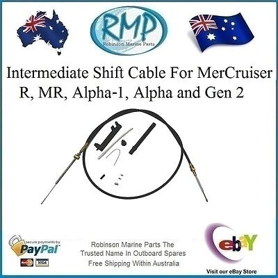 A Brand New Intermediate Shift Cable MerCruiser R, MR, Alpha 1 and Alpha 1 Gen 2