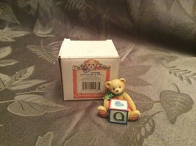 Enesco Cherished Teddies Letter Q block MIB 158488Q