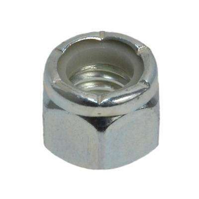 """Pack Size 1000 Zinc Plated Hex Nyloc 7/16"""" UNC Imperial Coarse Grade 5 Nut"""