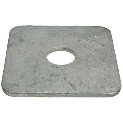 Pack Size 1 Galvanised Square M8 (8mm) x 38mm x 38mm x 3mm Metric SQR Washer