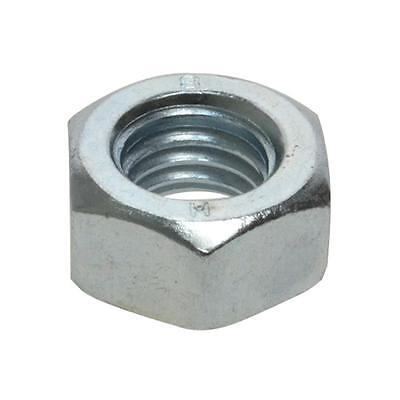 """Pack Size 100 Zinc Plated Hex Standard 1"""" UNC Imperial Coarse Grade 8 Nut"""