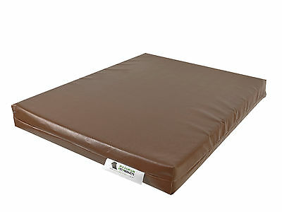 Brown Chew Resistant Dog Bed - Medium - Waterproof - Heavy Duty