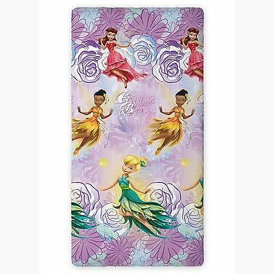Disney Fairies Single Fitted Sheet Kids Bedding 100% Official New
