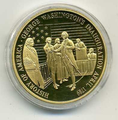 Medaille History of America George Washington's Inauguration April 1789 M_715