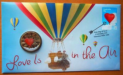 Australia  Love Is In The Air 2015  Pnc Stamp & $1 Coin Covers
